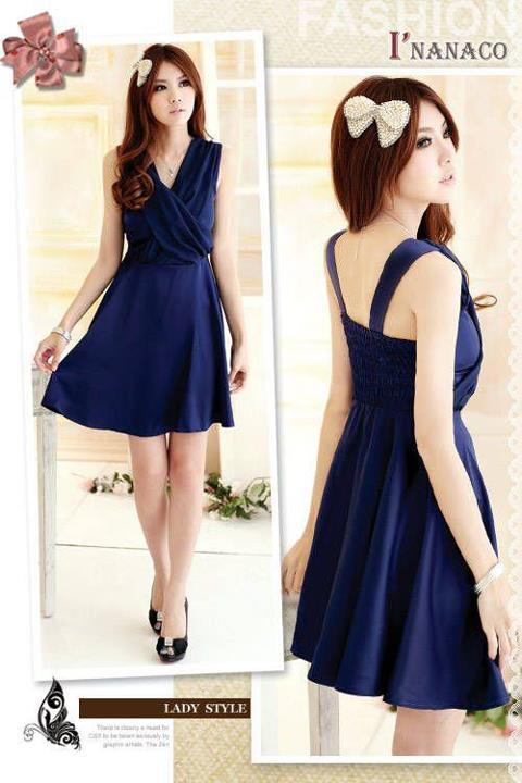 Chest cross dressITEM CODE: CA5188PRICE: Color: Deep BlueBust 75-90, Length 88