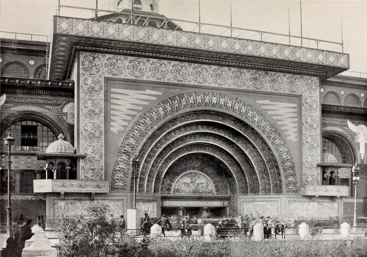 Louis H. Sullivan's Transportation Building at the 1893 World's Columbian Exposition, Chicago