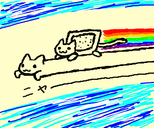 I'll be blasting Queen's 'Don't Stop Me Now' when… 'Nyancat rides Longcat'