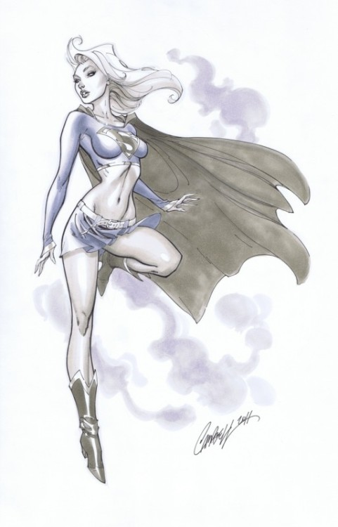 Supergirl by J. Scott Campbell You will also like: another one of Supergirl.