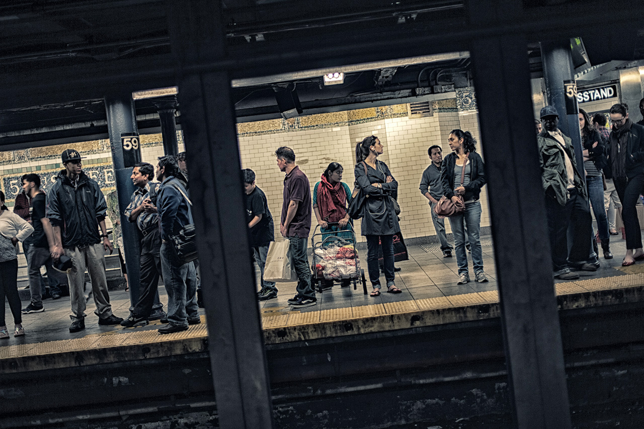 59th Street on Flickr. People waiting for the subway at 59th street station on New York City.