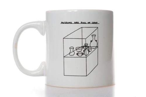 justdontmugyourself:  Museums are Full of Crap Mug by David Shrigley available from the Southbank Centre @southbankcentre @davidshrigley