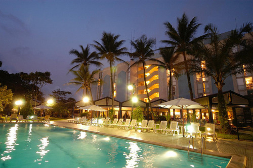 Le Meridien Douala—Hotel & Pool by Night - 10mb - 10in x 6.7in @ 300dpi by LeMeridien Hotels and Resorts on Flickr.Le Meridien Douala