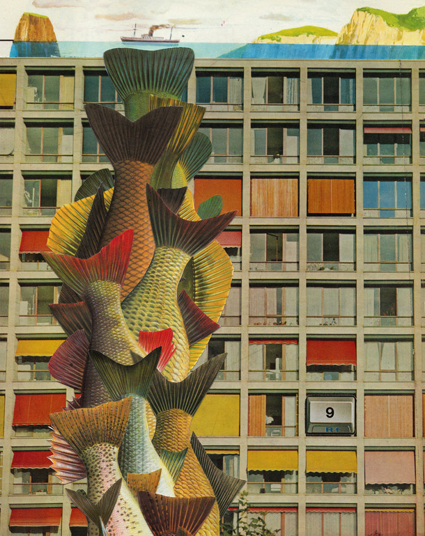 darksilenceinsuburbia:  Eduard Bezembinder. Untitled, (Corbusier, fishtails ), 2011.