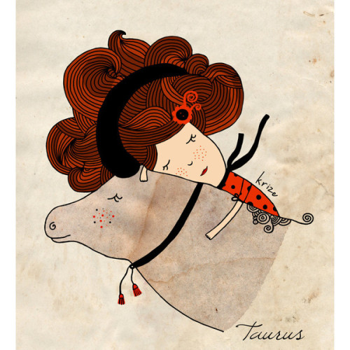 PRINT Taurus Zodiac Signs by krize on Etsy