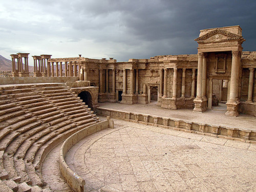 visitheworld:  Palmyra's Theatre, buried beneath the sand until 1950's, Syria (by Julian Kaesler).