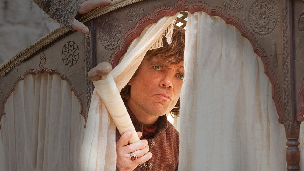 Tyrion visiting Shae hidden at Chayata's brothel
