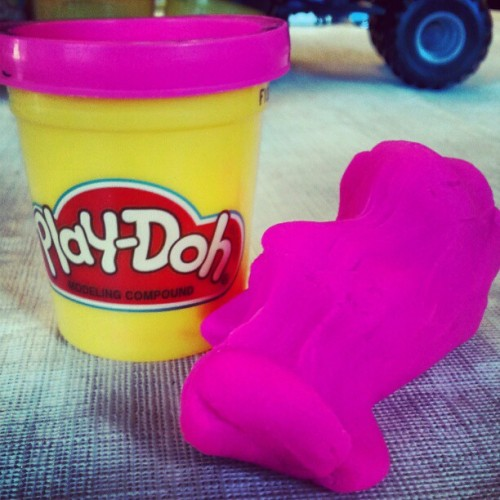 Play-Doh with James. Feeling like a child again.   (Taken with instagram)