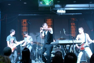 Love this picture! It's from our show with Cavo back in November of 2010. I can't believe it's been a year and a half from what we consider the start of the band.