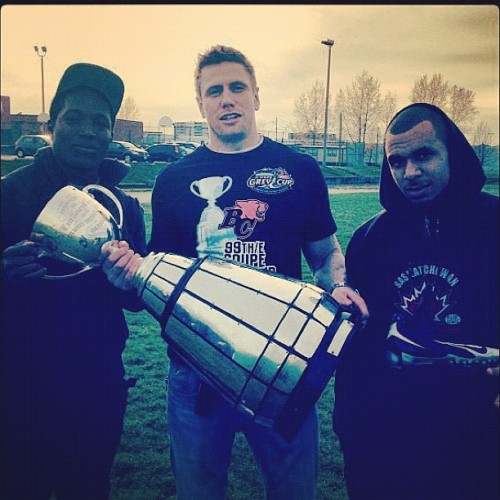 Chillin wit the Grey Cup…  (Taken with instagram)