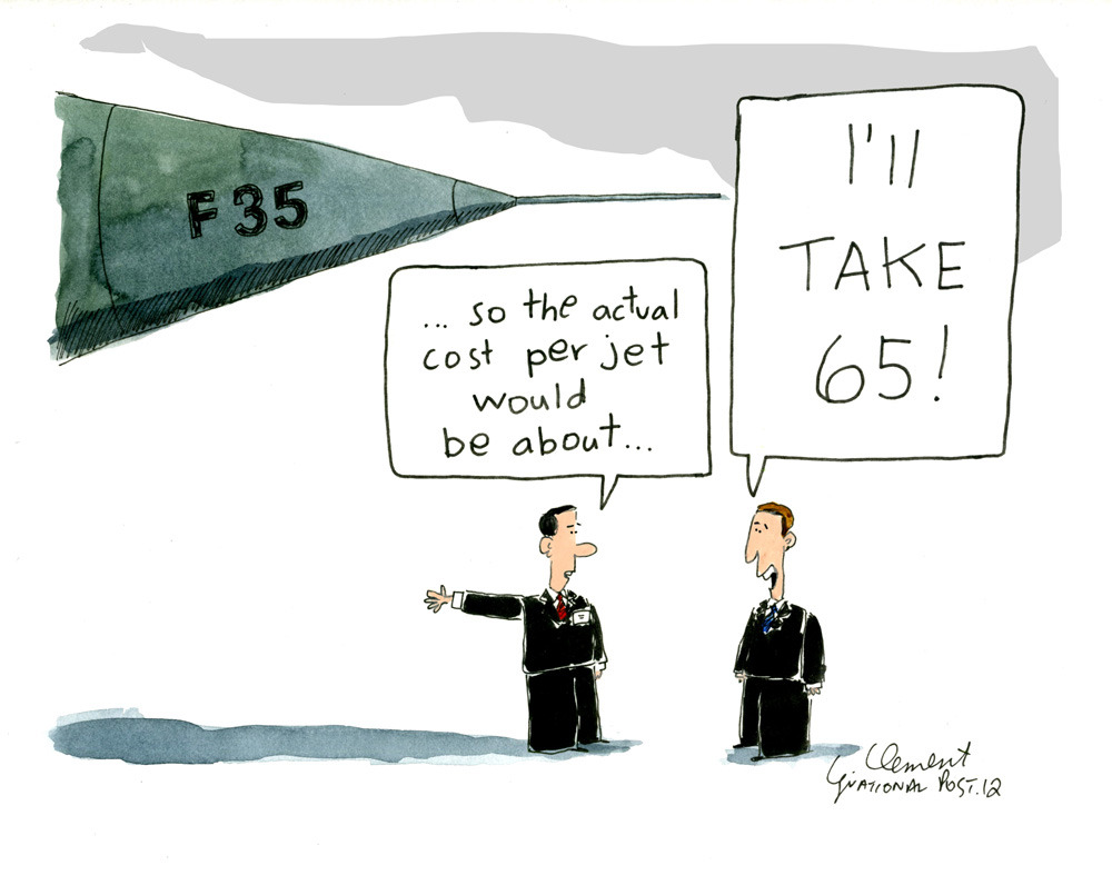 "'Significant' costs left out of $25B estimate for F-35 purchase: A-GAuditor General Michael Ferguson suggested Thursday that the true cost of the F-35 purchase could grow well past $25 billion because the Defence Department has left out ""significant"" cost items and downplayed the plane's life cycle."