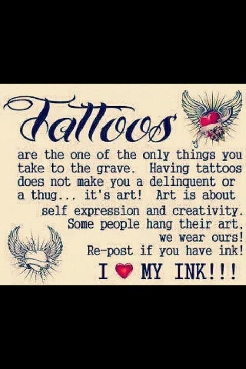 Be proud of your ink