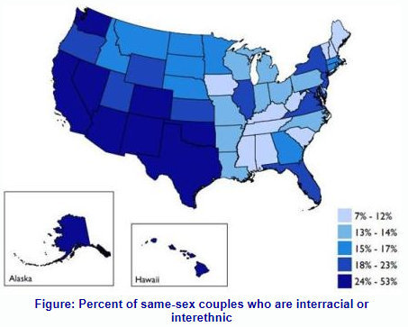 USA: LGBT Couples Are More Mixed