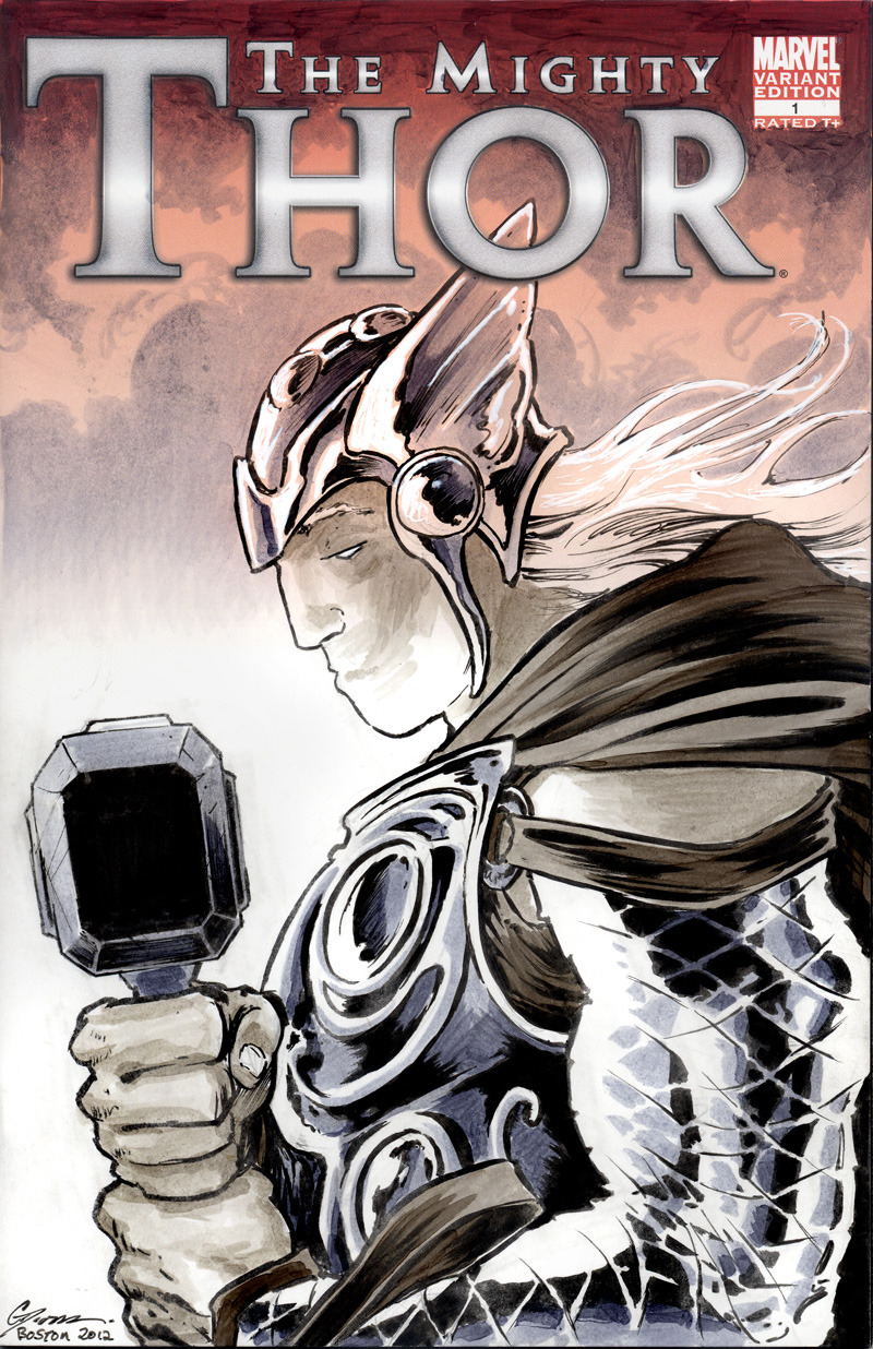 saulone:  Thor Sketch cover.