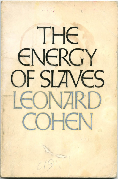My absolute favourite Leonard Cohen book.