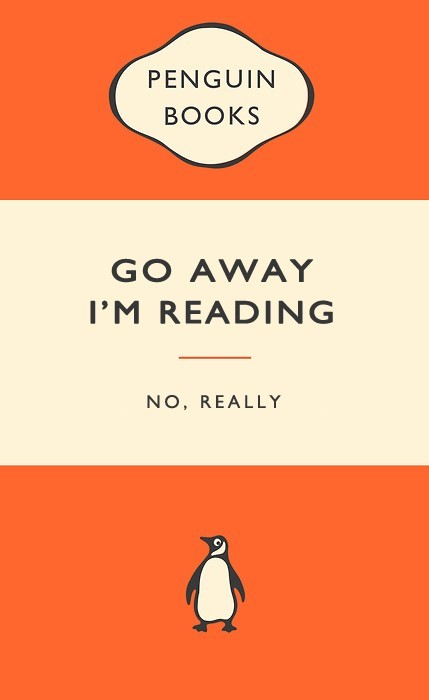 "booksdirect:  ""Go away, I'm reading."""