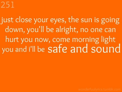 Safe And Sound-Taylor Swift