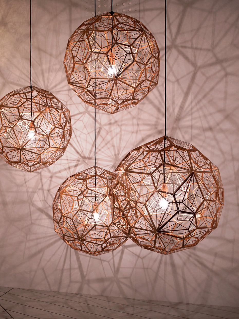 tmagazine:  Tom Dixon's Etch Web lights at the Milan Furniture Show. See more highlights from the affair on our site.