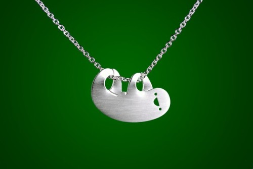 aaaah my heart's just melted: cutest EVER sloth necklace from marymaryhandmade @etsy
