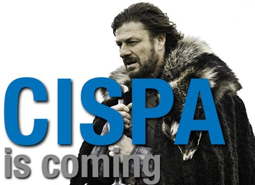 thedailywhat:  CISPA Vote of the Day:CISPA — the most unpopular bill on the Internet, no matter whatFacebook says — passed late Thursday with a 248-168 vote in the GOP-controlled House. What you might have missed, helpfully pointed out byFo
