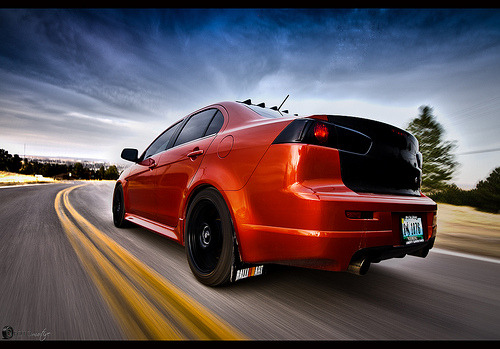 Speed addicted Starring: Mitsubishi Lancer Evo X (by slingblade_2004)