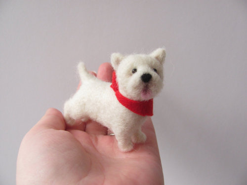 woof woof! white terrier by handmade by November