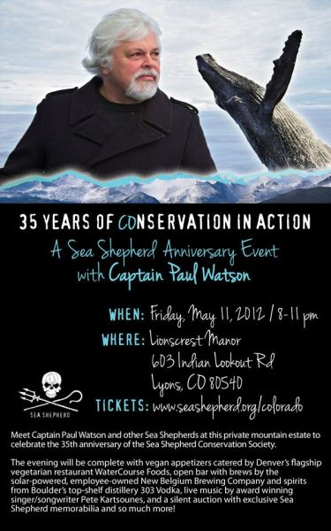 35 Years of Conservation in Action - Sea Shepherd Anniversary Event with Captain Paul Watson @ Sea Shepherd Conservation Society