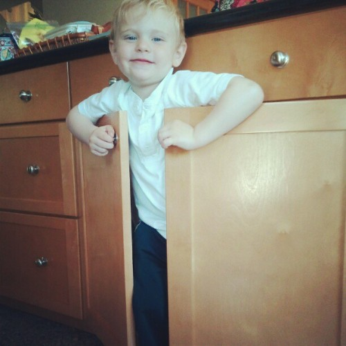 James playing hide and go seek. #suchacutie  (Taken with instagram)