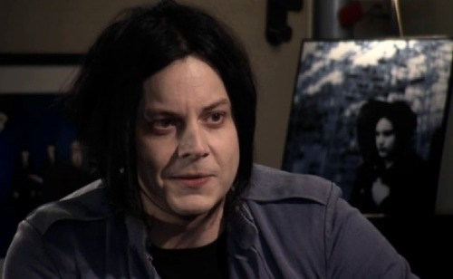 Jack White hides backstage on the Colbert Report!