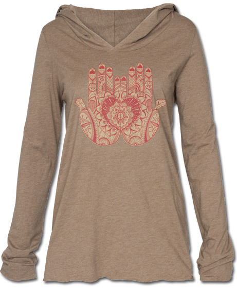 $38 (via NEW! Mehndi Hands Yoga Hoody: Soul-Flower Online Store)
