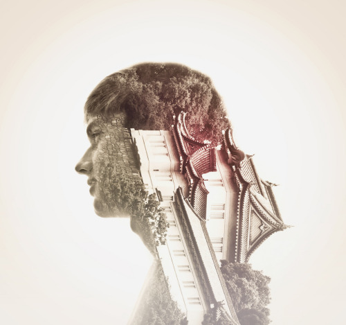 black-tangled-heart:  Double exposure photography by Stephen Criscolo