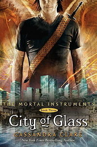 The Mortal Instruments: City of Glass (Book Three) by Cassandra Clare. Young Adult Urban Fantasy   Rating: 4/5 So Clary seemed like she was becoming more likable as the second book went on - OH HOW WRONG I WAS! D: Never has a character in a book made me so frustrated with their selfishness, stupidity, and general hate-making capabilities. I hated all my housemates the whole day just because they are humans and they share that human-esque quality with Clary. LUCKILY, there was a lot going on, and I'd read the first two books, so I couldn't quit now. Obviously I still liked the general story, but the main character really needs to be killed off - I have no idea how she wins Best Heroine awards, her only redeeming quality is that she has super angel powers of creation, which isn't even something she had a say in having. Read the book, and I'm sure someone would have to agree with me. YES, EVENTUALLY, she does get better, but I don't know if she can really come back from the amount of loathing I felt for her at the beginning. Another horrific occurrence is that I found myself liking Jace less. Now that his life is in tatters, he barely comes out with his witty quips, and mainly self-harms and self-pities himself. It's a bit of a downer. There's more focus on Simon, Alec and Magnus, though, which I feel makes up for the lack of decent MAINmain characters. The climax of the second book ends in Clary using her new-found rune creating powers to blow up Valentine's ship. All the twists and mysteries are still up in the air, though. City of Glass is predominantly set in the shadowhunter city of Alicante, where, unbeknownst to the merry little community, a demon war may or may not be about to break out. The incestual tendencies, romance, and humour are still continued, thankfully. So, if you read all that, I've probably completely turned you off the series. But just take a moment to think about the fact that I still rated it 4/5. Just proves the books are good despite all I have to say hahaa. I spose I shouldn't really be advertising other people's reviews, but this one was so hilariously accurate, I couldn't resist. As usual, Cassandra Clare and a CHALLENGE WOOOH!