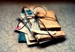 Old fashioned handwritten letters.