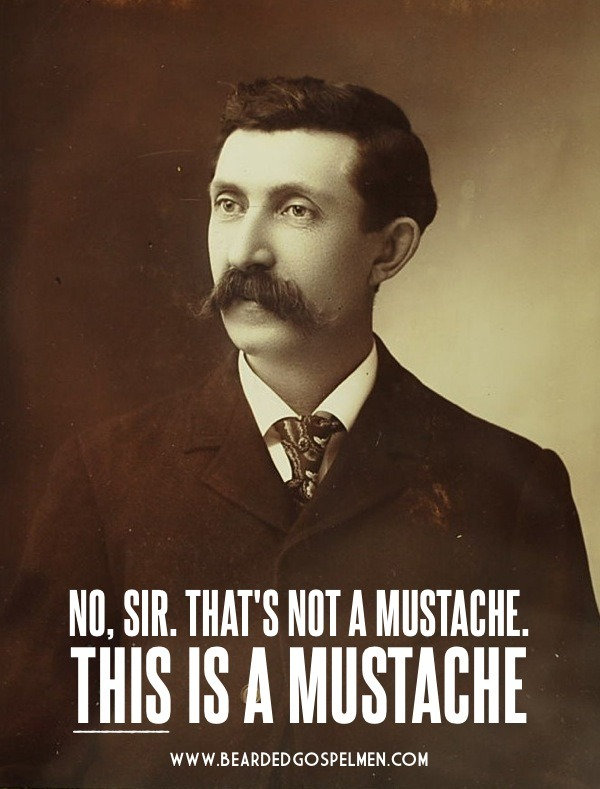 No, sir. That's not a mustache. This is a mustache.