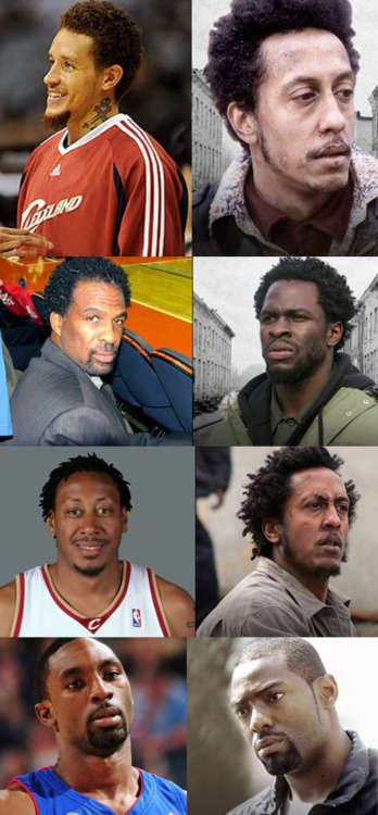 "nbadoppelgangers:  ""The Wire""  Bubbles squared."