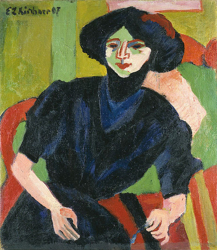 Kirchner, Ernst Ludwig (1880-1938) - 1911 Portrait of a Woman by RasMarley on Flickr.