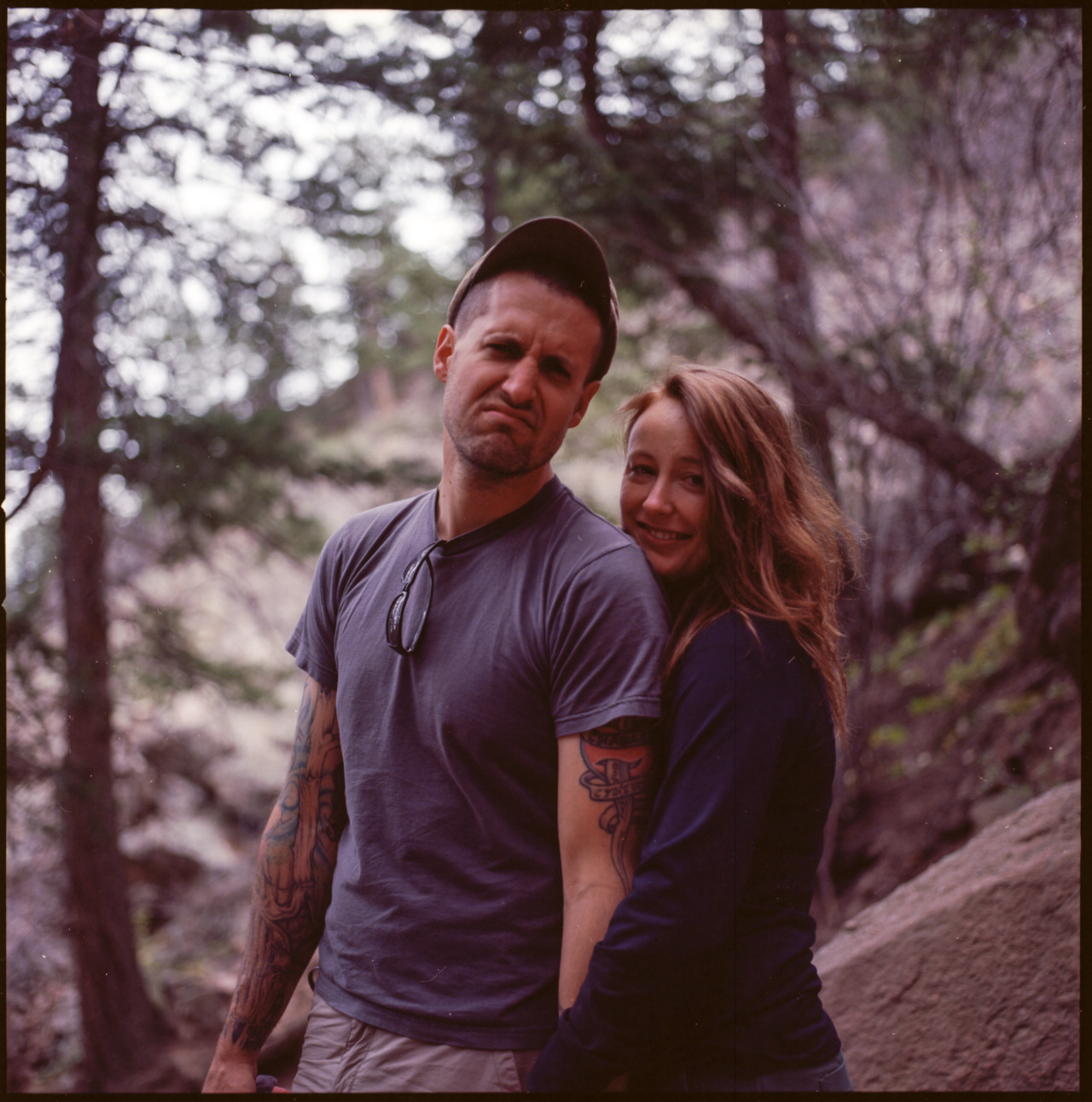 Eric Hatsel with Girl | Boulder, CO Hasselblad 500CM Zeiss Prontor CF T* 80mm f/2.8 Kodak Ektar 100 CanoScan 8800F