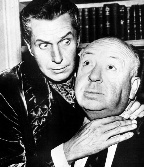 hollywoodlady:  Vincent Price and Alfred Hitchcock