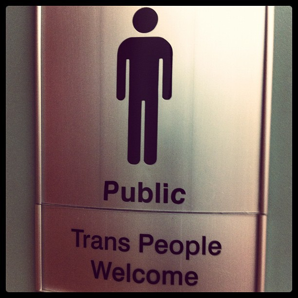 smonts:  I wish this was on every bathroom #trans #genderqueer #lgbt (Taken with instagram)