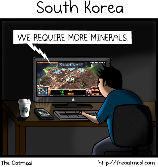 Do you know what's the difference between North Korea and South Korea? (via The Oatmeal)