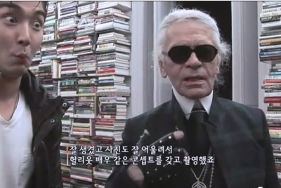 "fuckyeahsujufaces:  haes-fishbowl:  Siwon's reaction when Karl Lagerfeld says ""he's very handsome, very photogenic"" otl…  the face of modesty!"