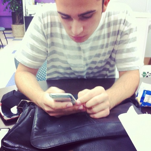 Sam working hard ah :P @bestboysam8 (Taken with instagram)