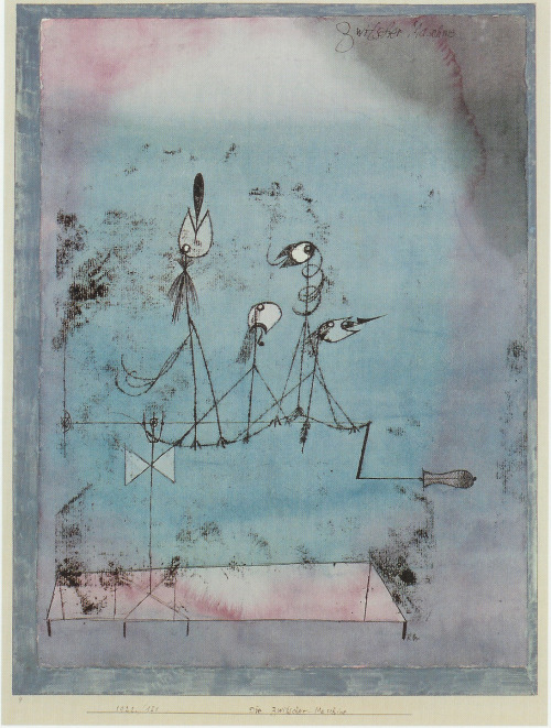 The Twittering Machine Paul Klee 1922