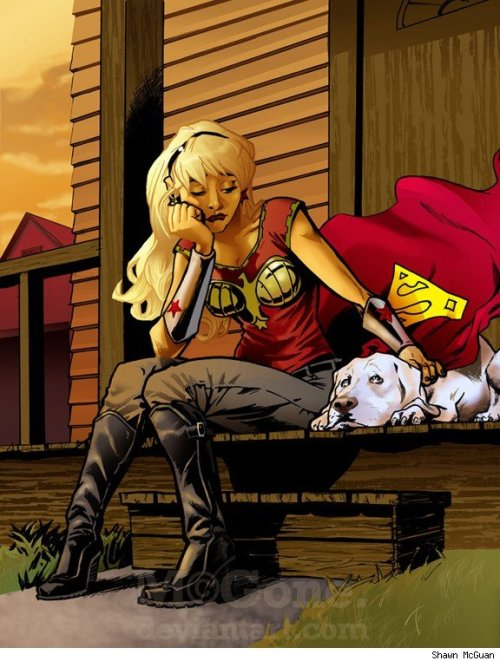 Wonder Girl & Krypto by McGone