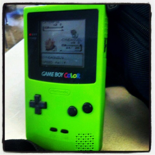Playin' game boy in Language Arts (Taken with instagram)