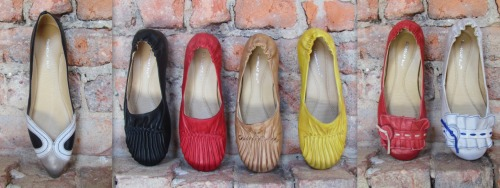 These funky new Chocolate Blu flats just arrived and will brighten up any outfit!! Try pairing them with a simple jersey dress or jeans and a t-shirt for a casual yet fun look. Their extreme comfort is also a bonus!!