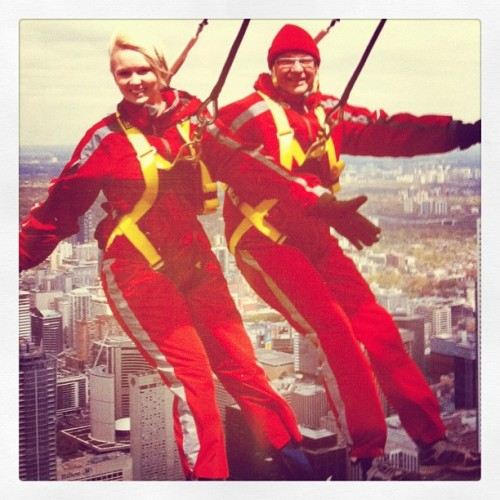 My dad and I on the edge! (Taken with instagram)