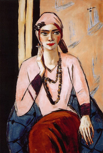Beckmann, Max (1884-1950) - Quappi in Pink by RasMarley on Flickr.