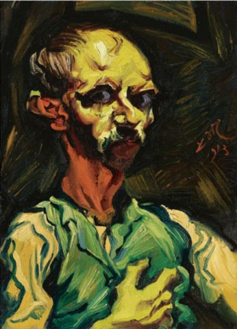 Meidner, Ludwig (1884-1966) - 1913 My Nocturnal Visage (self portrait) by RasMarley on Flickr.