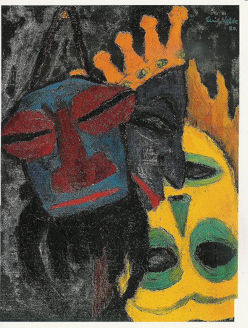 Nolde, Emil (1867-1956) - 1920 Masks IV by RasMarley on Flickr.